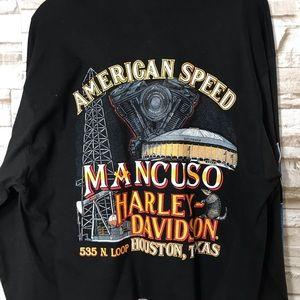Harley-Davidson Tops - Vintage 80s Harley Davidson Long Sleeve Crop Top